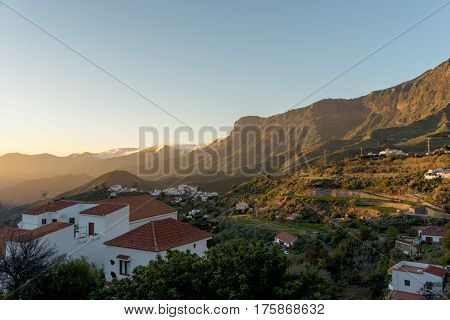 Sunset in Tejeda, Gran Canaria, Canary Islands, Spain