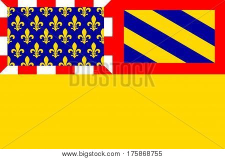 Flag of Cote-dOr is a department in the eastern part of France.