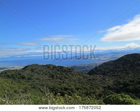 Lake Taupo As Seen From A Mountain