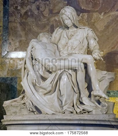Rome, Italy 7Th July 2013. Visiting The The Basillica San Pietro. Pieta By Michelangelo.