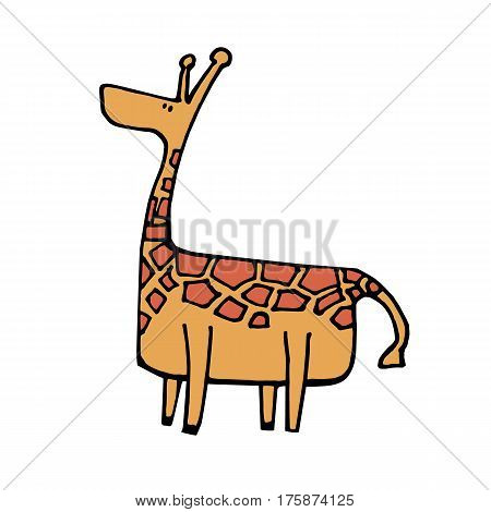 animal giraffe vector africa illustration safari mammal cute african cartoon tall