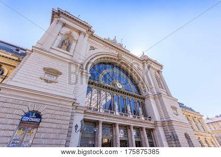 BUDAPEST HUNGARY - APRIL 13 2016: Facade of