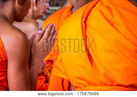 Ordination Ceremony In Buddhist