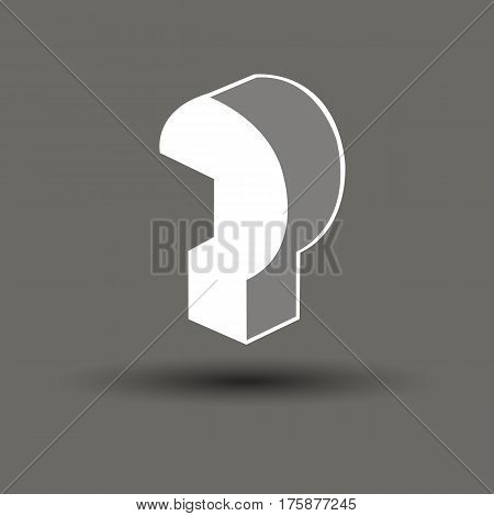 question mark vector symbol icon sign illustration concept ask gray