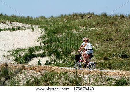 Bikers In Ameland The Village Buren On The Isle Of Ameland