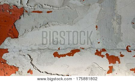 Chipping and stain paint wall texture background.