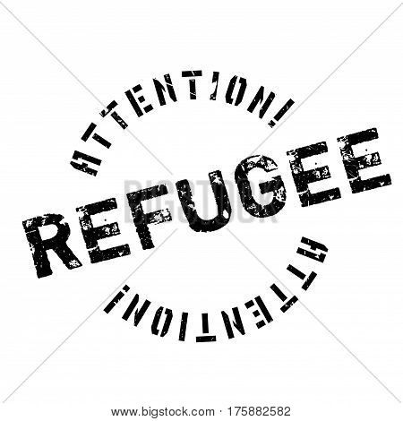 Refugee rubber stamp. Grunge design with dust scratches. Effects can be easily removed for a clean, crisp look. Color is easily changed.
