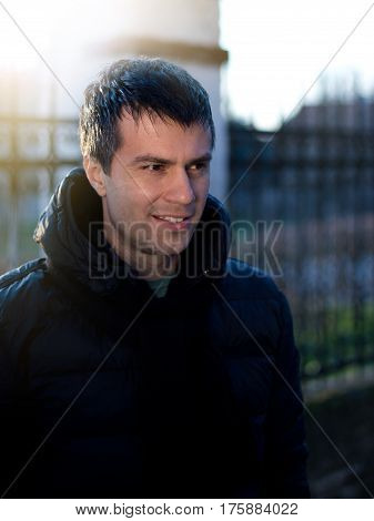 Man In Winter Jacket
