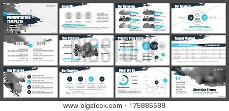 Elements for Presentation templates. Use in presentation, flyer and leaflet, corporate report, marketing, advertising, annual report, banner