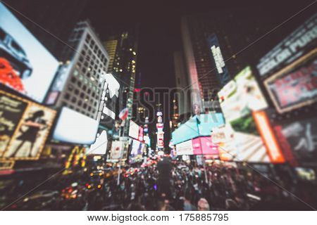 Time square blurred concept in the night