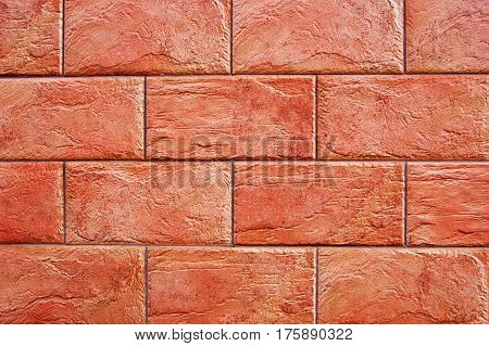 Decorative panel imitating well done decorative brick wall