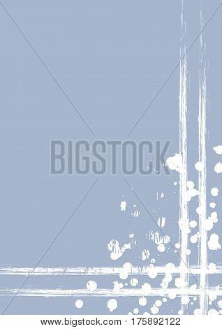 Vector Drawn Background With Frame, Border. Grunge Template With Splash, Spray Attrition, Cracks. Ol