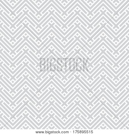 Vector seamless pattern. Modern stylish texture. Regularly repeating geometrical ornament with rhombuses diamonds zigzag stripes. Abstract background with geometrical mosaic puzzle.
