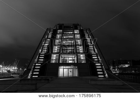 Dockland In Black And White