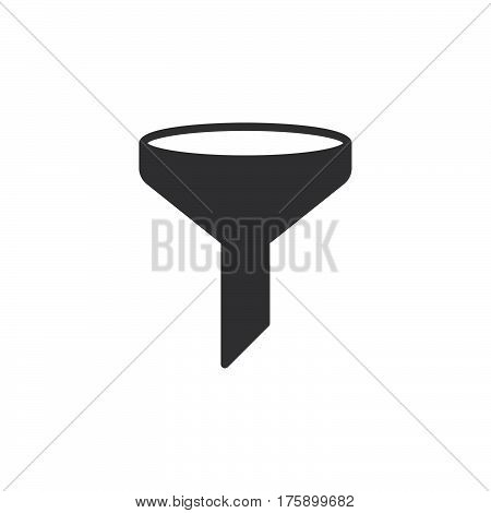 Funnel filter icon vector filled flat sign solid pictogram isolated on white. Symbol logo illustration. Pixel perfect