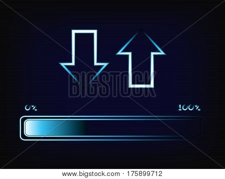 Vector Of Up And Down Arrows With Progress Bar