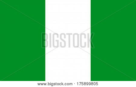 Nigeria flag official colors and proportion correctly
