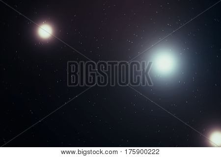 Outer space is filled with infinite number of stars, galaxies, nebulae. Beautiful colorful background, 3d rendering
