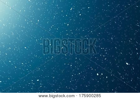 Blue Night sky filled with stars and nebula, space dust in the universe, 3d rendering