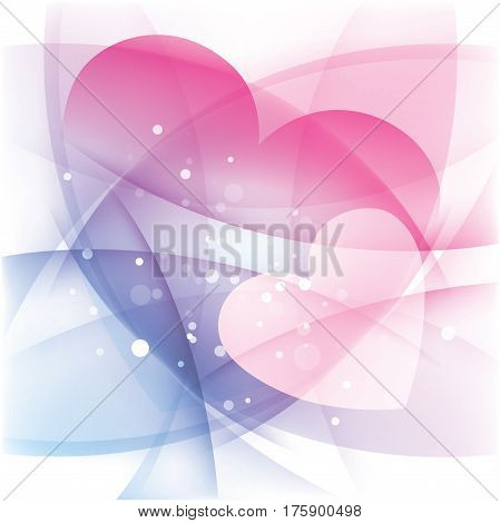 Two hearts love background, Valentine's day, holiday card