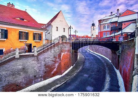 Sibiu Romania Transilvania Liars Bridge.