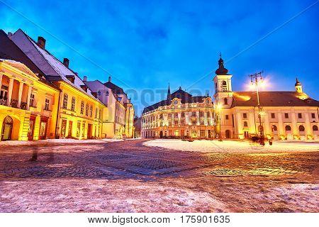 Sibiu Romania Transilvania City Hall