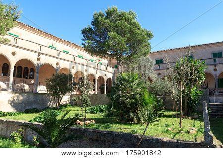 Monastery Santuari de Cura on Puig de Randa Majorca Spain