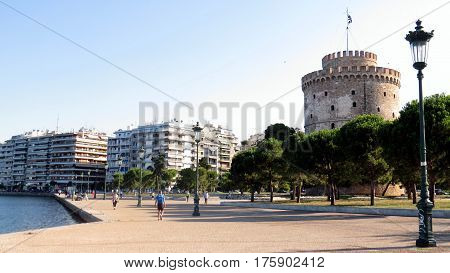 The White Tower in Thessaloniki, mainland Greece.