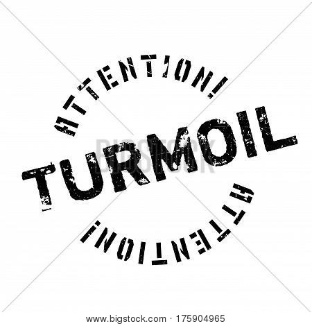 Turmoil rubber stamp. Grunge design with dust scratches. Effects can be easily removed for a clean, crisp look. Color is easily changed.