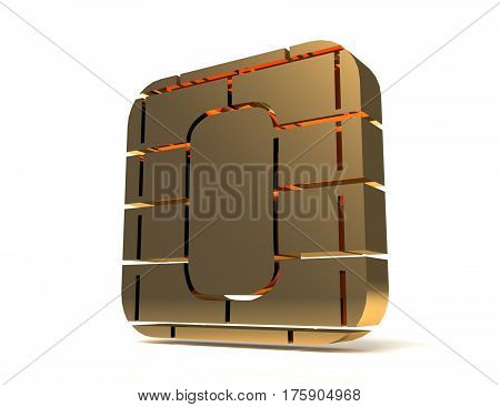 SIM card or credit card concept. rendered illustration