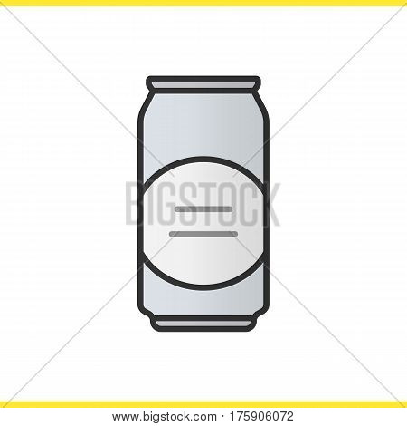 Beer can color icon. Aluminium can. Isolated vector illustration