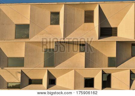 LEON, SPAIN - JULY 27, 2016: Leon (Castilla y Leon Spain): exterior of the modern Auditorium in the Park Explanada de la Junta