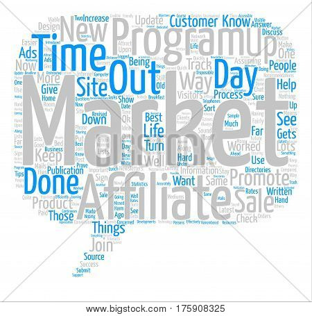 A day In The Life Of An Affiliate Markter text background word cloud concept