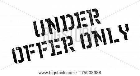 Under Offer Only rubber stamp. Grunge design with dust scratches. Effects can be easily removed for a clean, crisp look. Color is easily changed.