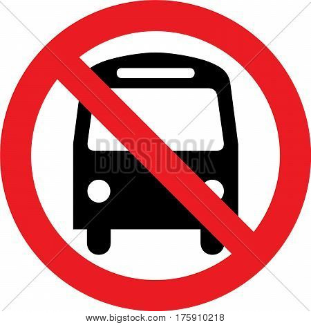 No bus allowed sign on white background