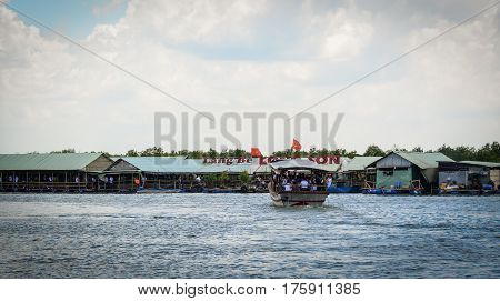 Wooden Boat On The Sea In Vung Tau, Vietnam