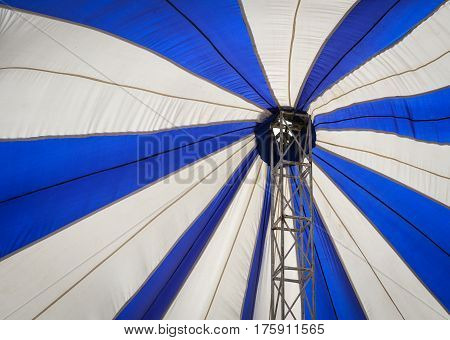 Blue And White Canopy For A Party