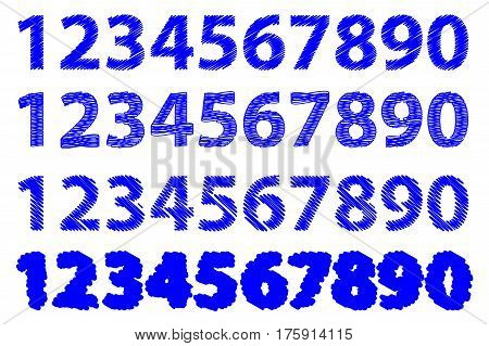 Numbers 0-1-2-3-4-5-6-7-8-9 , Sketch Numbers Zero 0 One 1 Two 2 Three 3 Four 4 Five 5 Six 6 Seven 7 eight 8 nine 9