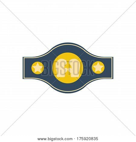Boxing championship belt on the white background. Vector illustration