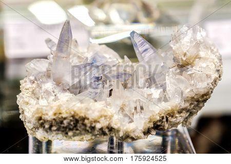 celestine mineral madagascar blue crystal celestite gem