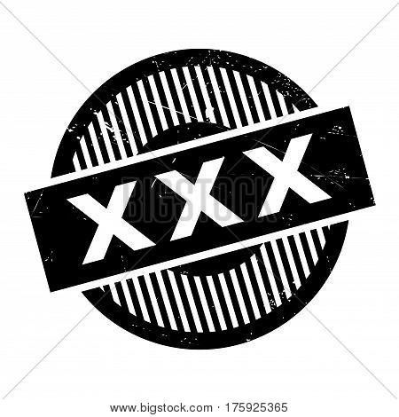 Xxx rubber stamp. Grunge design with dust scratches. Effects can be easily removed for a clean, crisp look. Color is easily changed.