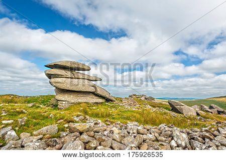 Rough Tor is one of the highest peaks in Bodmin Moor