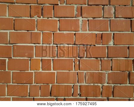 infinitely long and high wall of clay brick