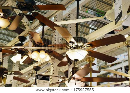 Light And Ceiling Fan Display