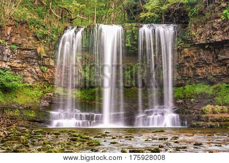 Sgwd Yr Eira Waterfall in Brecon Beacons National Park.