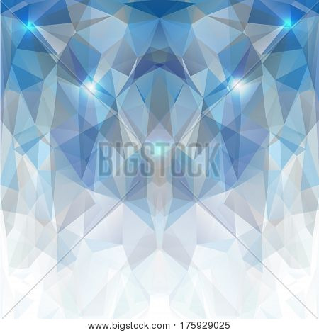 Blue and white polygonal mosaic Background Creative Design Templates. Vector illustration.