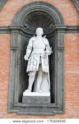 Statue On Facade Of The Palazzo Reale