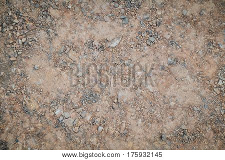 Sand and rock dirt gound for texture and background