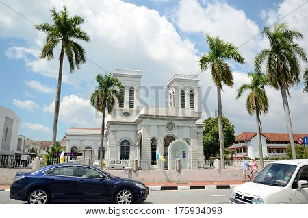 Georgetown/Malaysia - September 2012: Church of the Assumption in Georgetown, Penang, Malaysia.