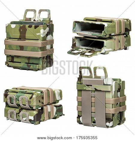 Bag Bullet,camouflage, on a Isolated white background
